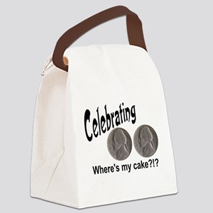 doublenicklecake Canvas Lunch Bag