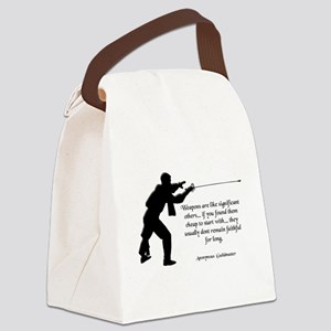 fencingunfaithful Canvas Lunch Bag