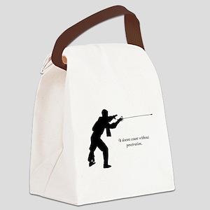 fencingpenetration Canvas Lunch Bag