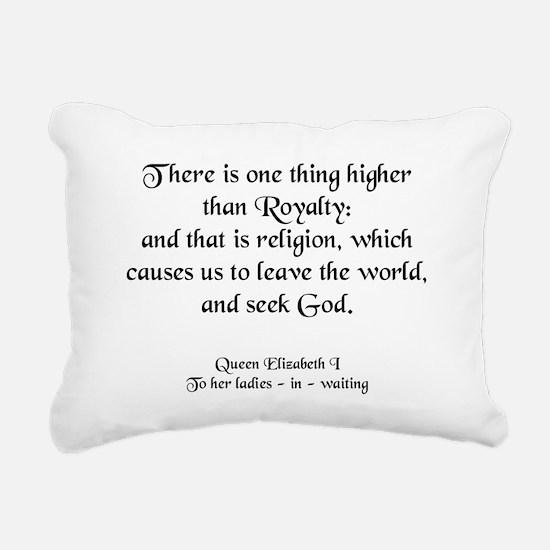 queenlizseekgod.jpg Rectangular Canvas Pillow