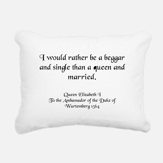 queenlizstaysingle.jpg Rectangular Canvas Pillow