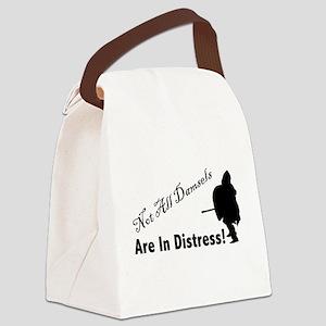 Damsel in Distress Canvas Lunch Bag