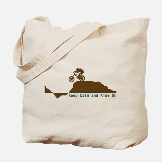 Mountain Bike - Keep Calm Tote Bag