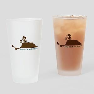 Mountain Bike - Keep Calm Drinking Glass