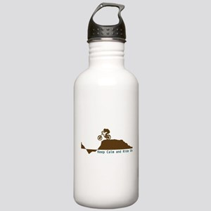 Mountain Bike - Keep Calm Stainless Water Bottle 1