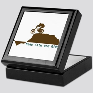 Mountain Bike - Keep Calm Keepsake Box