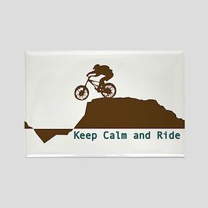 Mountain Bike - Keep Calm Rectangle Magnet