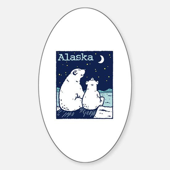 Alaska Oval Decal