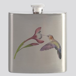 Hummingbird in flight Flask