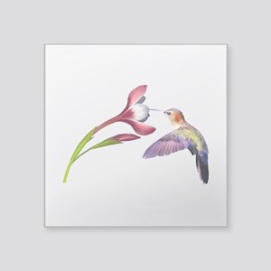 "Hummingbird in flight Square Sticker 3"" x 3&q"