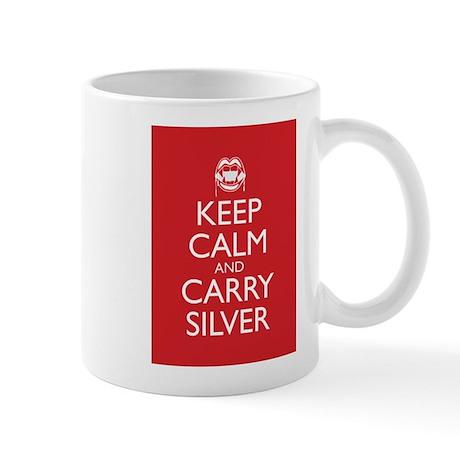 Keep Calm and Carry Silver Mug
