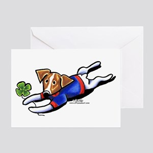 Lucky Jack Off-Leash Art™ Greeting Card