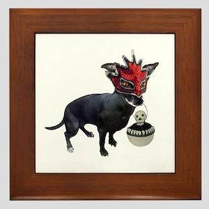Dog in Mask Framed Tile