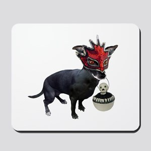 Dog in Mask Mousepad