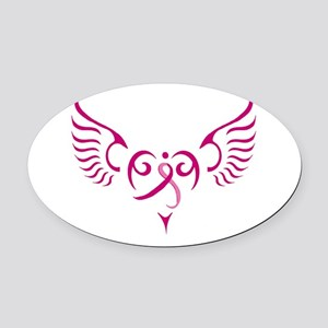 Style Me Pink Oval Car Magnet