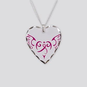 Style Me Pink Necklace Heart Charm