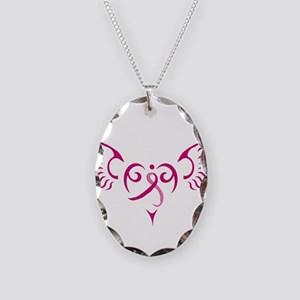 Style Me Pink Necklace Oval Charm