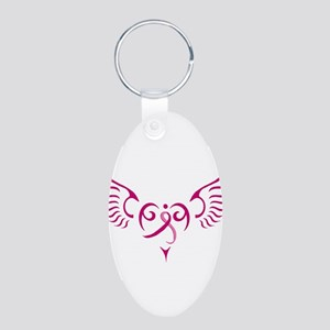 Style Me Pink Aluminum Oval Keychain