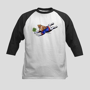 Lucky Jack Off-Leash Art™ Kids Baseball Jersey