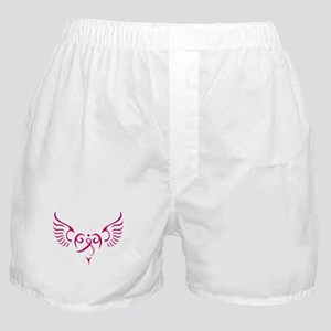 Breast Cancer Awareness Angel Heart Boxer Shorts