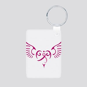 Breast Cancer Awareness Angel Heart Aluminum Photo