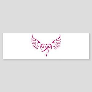 Breast Cancer Awareness Angel Heart Sticker (Bumpe