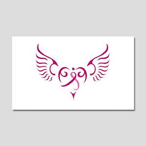 Breast Cancer Awareness Angel Heart Car Magnet 20