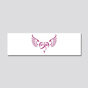Breast Cancer Awareness Angel Heart Car Magnet 10