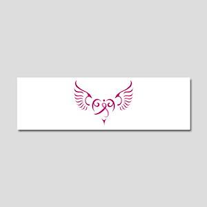 Breast Cancer Awareness Angel Heart Car Magnet 10