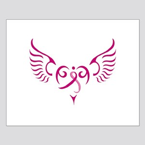 Breast Cancer Awareness Angel Heart Small Poster