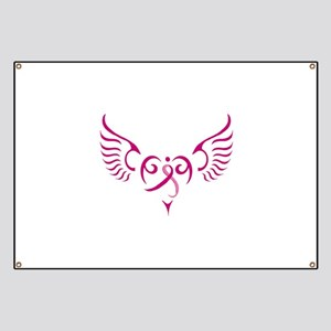 Breast Cancer Awareness Angel Heart Banner