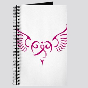 Breast Cancer Awareness Angel Heart Journal