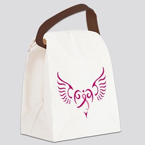 Breast Cancer Awareness Angel Heart Canvas Lunch B