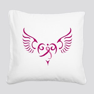 Breast Cancer Awareness Angel Heart Square Canvas