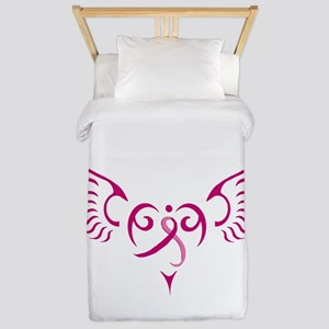Breast Cancer Awareness Angel Heart Twin Duvet