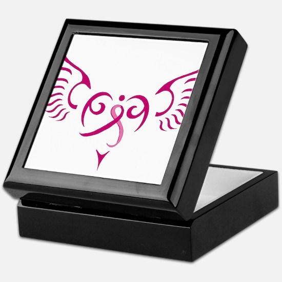Breast Cancer Awareness Angel Heart Keepsake Box