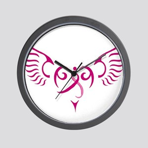 Breast Cancer Awareness Angel Heart Wall Clock