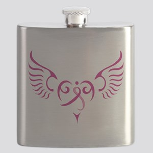 Breast Cancer Awareness Angel Heart Flask