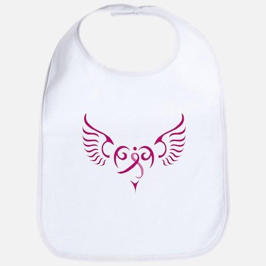 Breast Cancer Awareness Angel Heart Bib