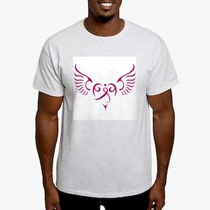 Breast Cancer Awareness Angel Heart Light T-Shirt