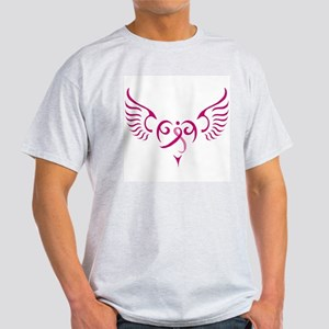 Breast Cancer Awareness Angel Heart Light T-Shirt