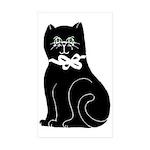 black cat lg Sticker (Rectangle 10 pk)