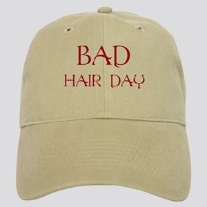 Red Print Bad Hair Day Cap