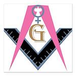 "Lady Freemasons Square Car Magnet 3"" x 3"""