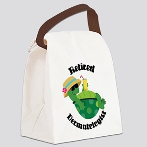 Retired Dermatologist Gift Canvas Lunch Bag