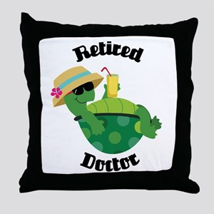 Retired Doctor Gift Throw Pillow