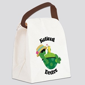 Retired Doctor Gift Canvas Lunch Bag