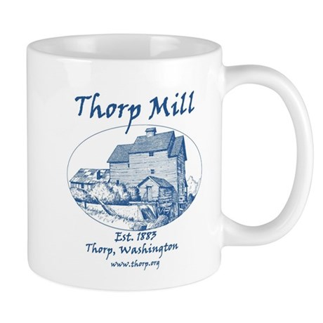 Mill Round Blue Logo Mug