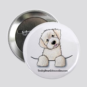 White Schnoodle Pocket Button