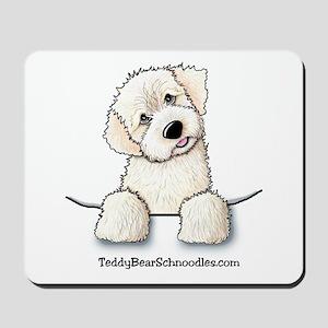 White Schnoodle Pocket Mousepad